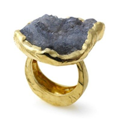 Milly Swire - Lily #Ring 18ct yellow #gold #ring with large rough #quartz #stone. #MothersDay #Gift #Jewellery http://directory.thegoldsmiths.co.uk/seasonal/mothers-day/#modal16