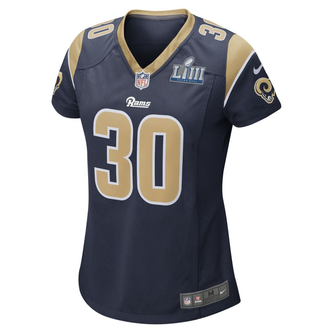 Nfl Los Angeles Rams Super Bowl Liii Todd Gurley Women S Game Football Jersey Size S College Navy Womens Football Jersey Nfl Los Angeles Football Jerseys