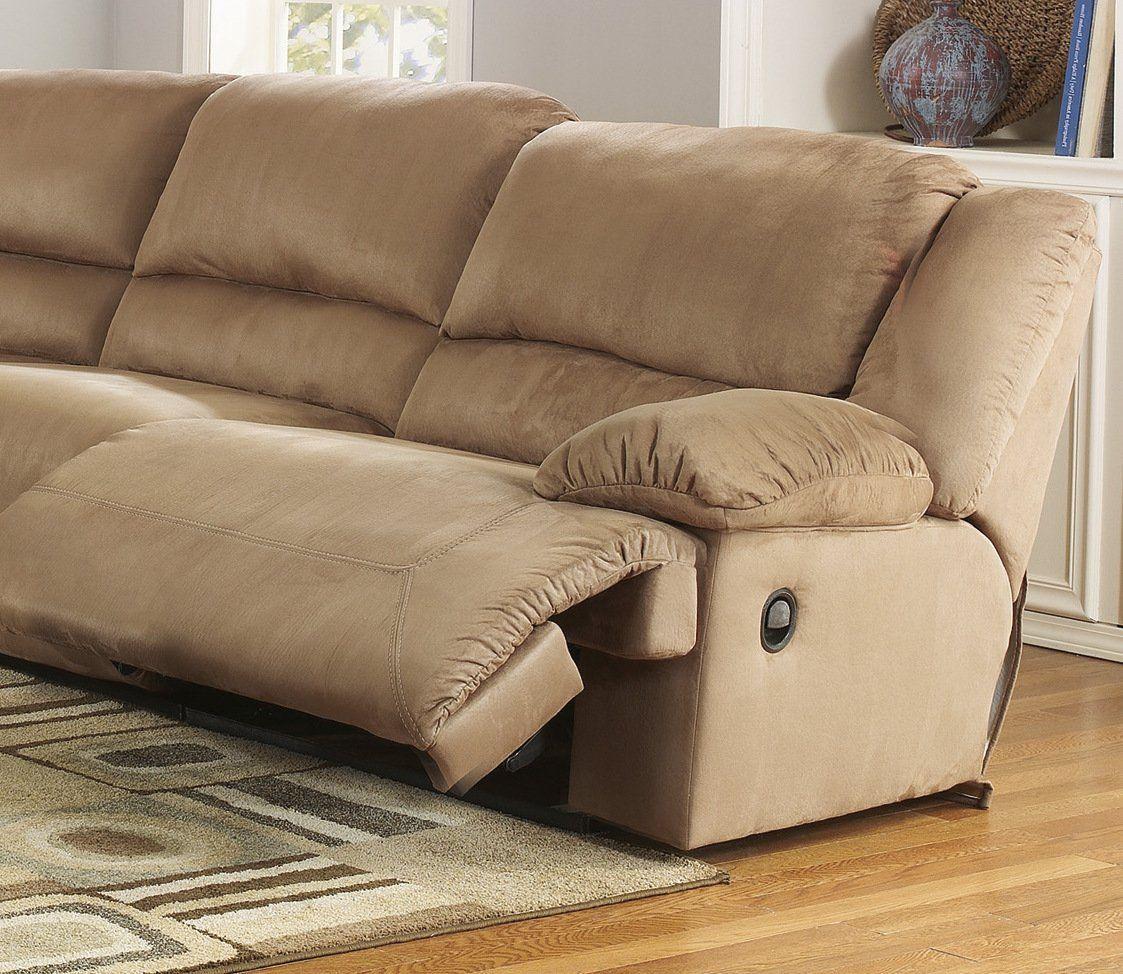 Mocha Color Microfiber Sectional Sofa