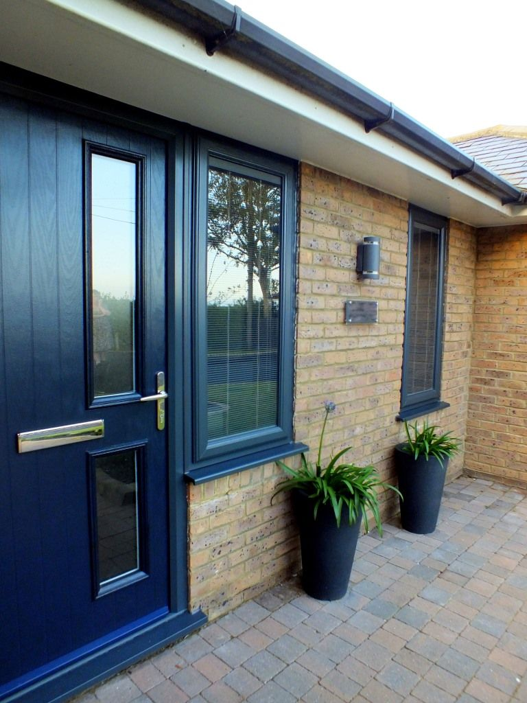 Fenesta upvc doors windows glass flooring - Grey Upvc Windows Integral Blinds Check Out Our Website To Read The Full Case