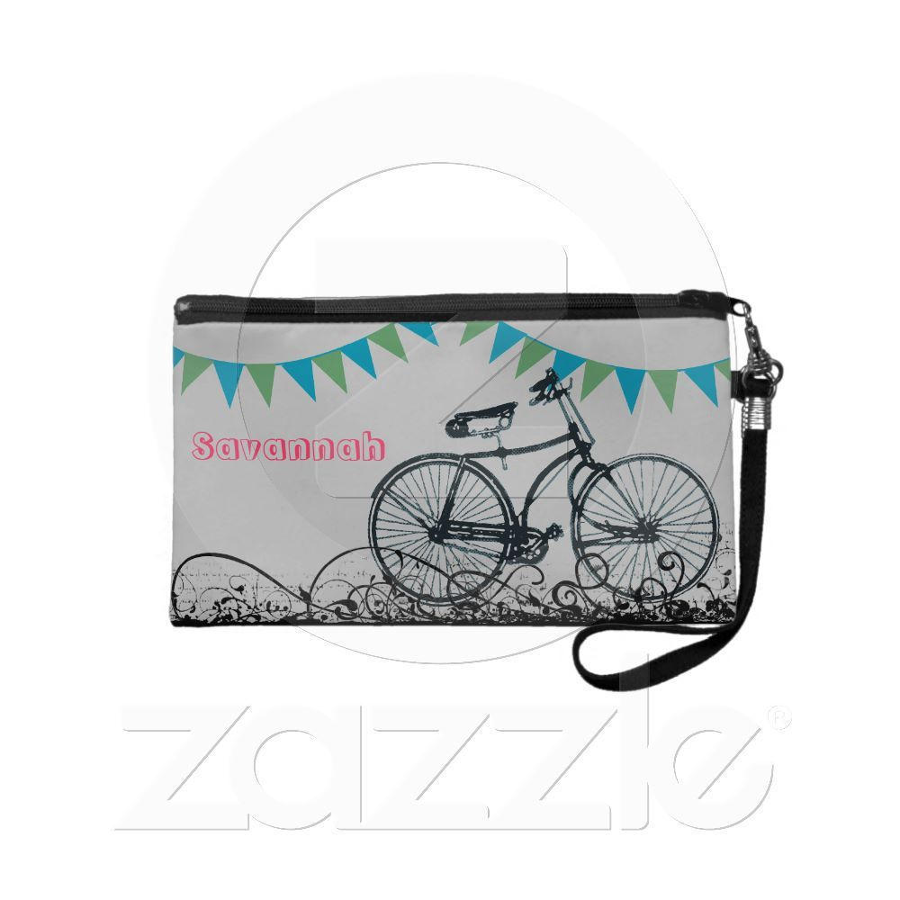 Vintage Bike Bunting Banner Wristlet from Zazzle.com