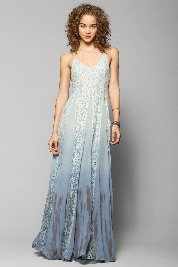 Kimchi Blue Beyond The Sea Lace Inset Maxi Dress Uo Exclusives