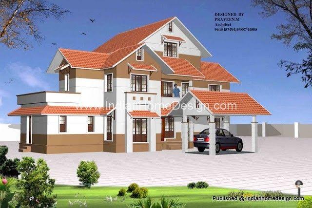 Wonderful Kerala Home Design 3D View