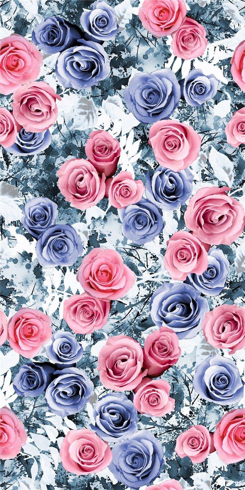 Natural collage flower design digital print 1 blisse for Print wallpaper designs
