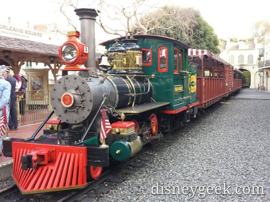 #Disneyland Railroad engine #3 Fred Gurley in the New Orleans Square Station taken from the opposite side near the original Frontierland station  Taken on January 29 2016  For more pictures from this trip and others visit our full site http://disneygeek.com or for more live shots from the parks visit http://blog.disneygeek.com  #disney #disneyparks #disneygram #instadisney #dlr #disneyblogger #disneylandresort #Disneyland60 by disneygeek