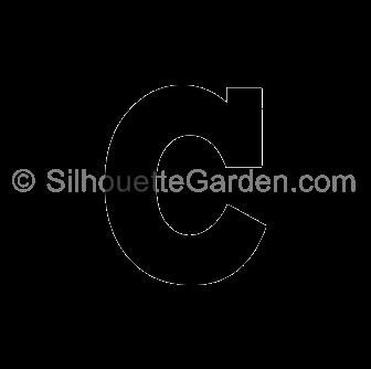 Lowercase Letter C Silhouette Lower Case Letters Lettering Silhouette Clip Art