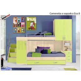 Cameretta a soppalco con divano letto outlet il nostro mondo di convenienza pinterest - Letto soppalco mondo convenienza ...