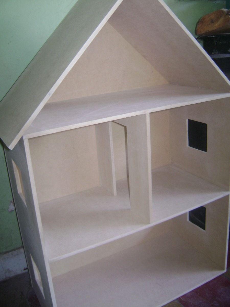Casa Para Mu Ecas En Fibrofacil Pintadas Y Sin Pintar Proyecto  # Muebles Fibrofacil Para Casa Munecas