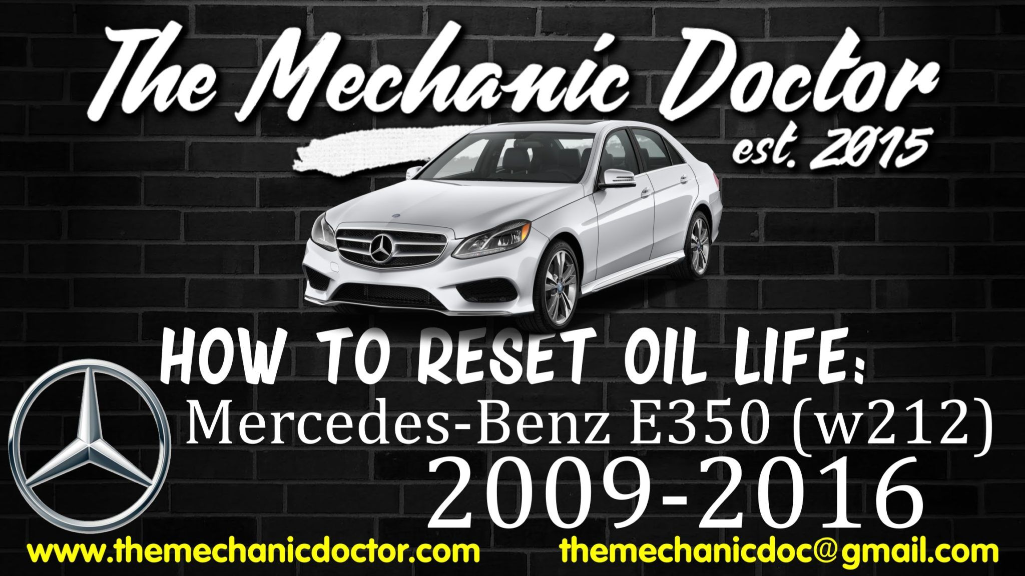 This Video Will Show You Step By Step Instructions On How To Reset Your Oil Life Indicator On A Mercedes Benz E350 W212 2009 2016