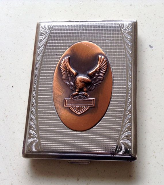 Cigarette Case. Silver Tone Metal. Featuring by VintageUKSouth