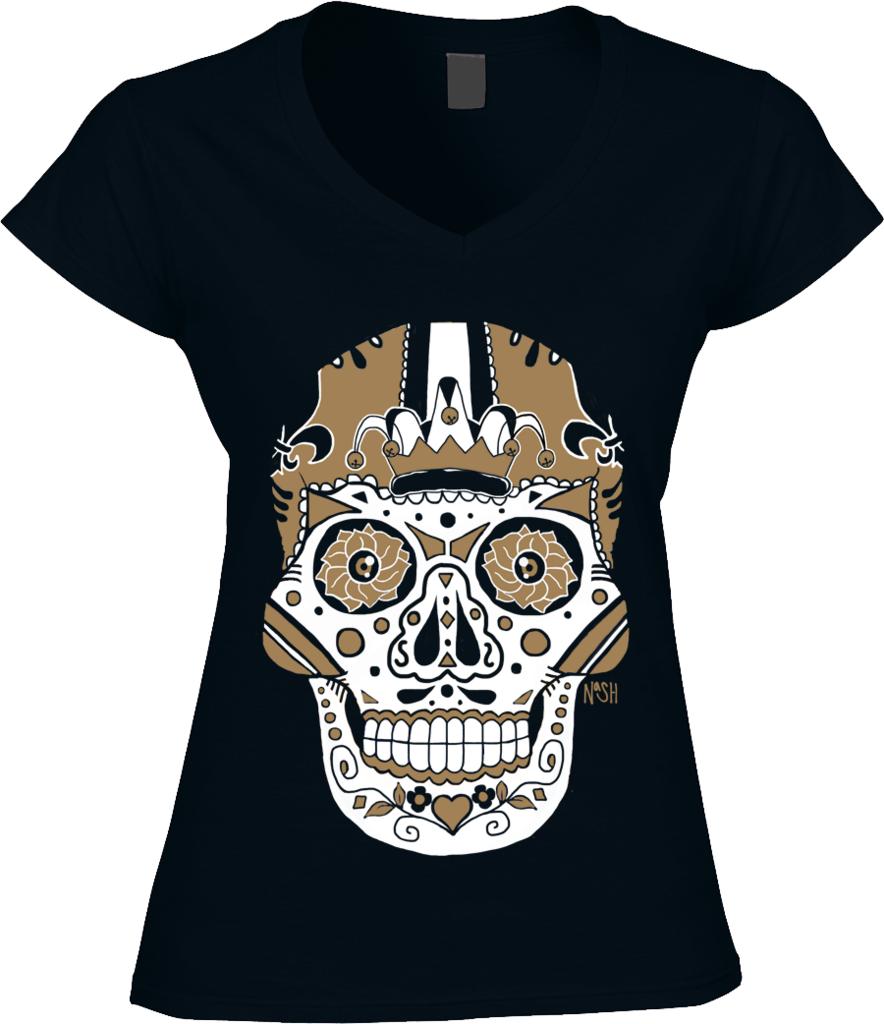 9cc1a412 New Orleans Football Sugar Skull | SKULLS | Saints shirts, Sugar ...