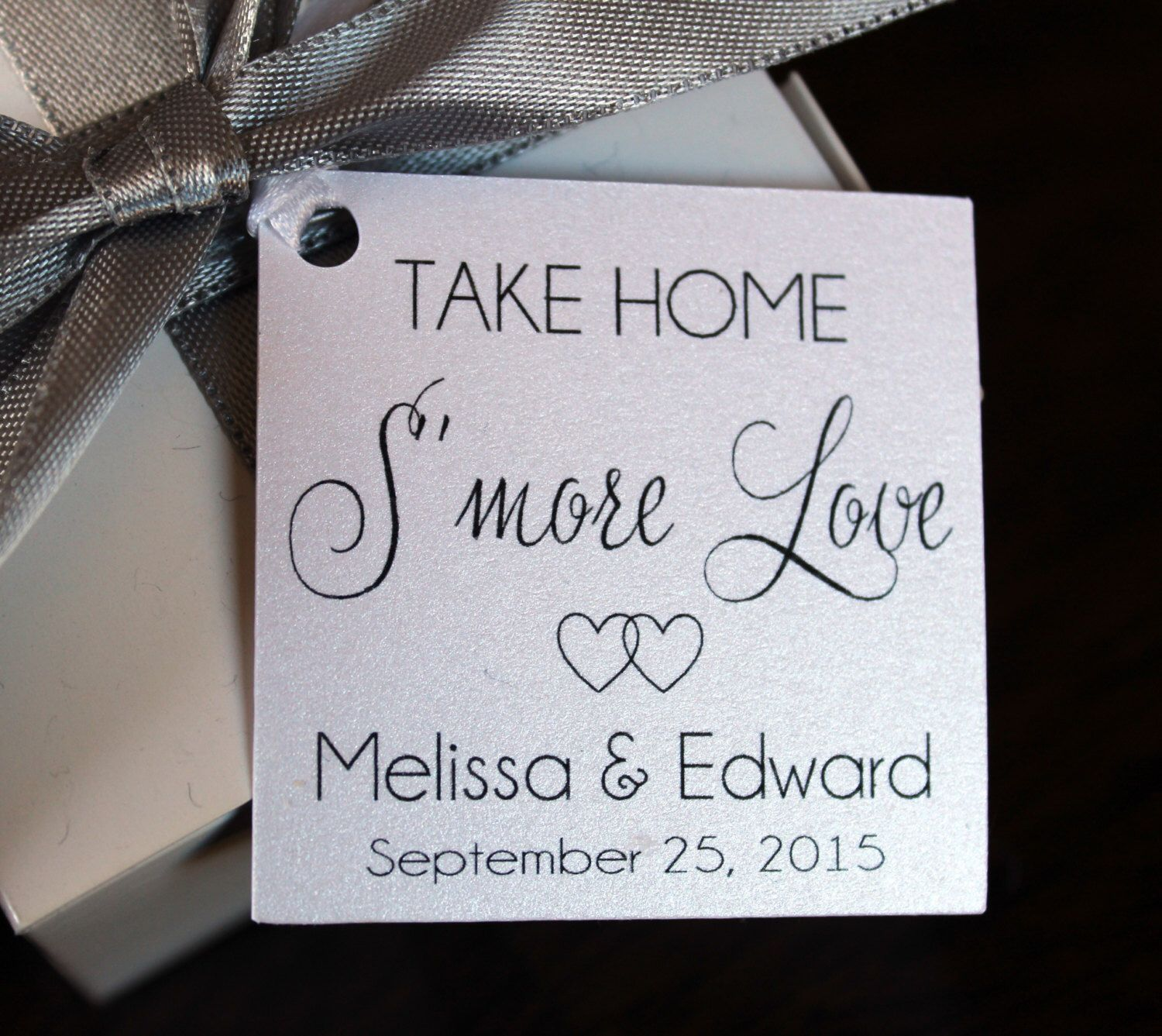 Weddgin Favor Tags - Wedding Favor Thank You Tags - Smore Love Favor ...