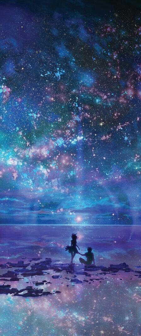Anime Galaxy Wallpaper Anime Scenery Fantasy Landscape Galaxy Art