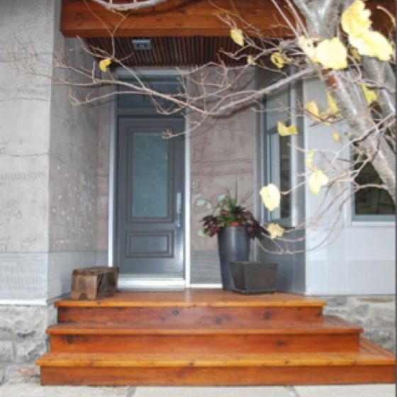 Best Door Wood Steps And Wood Over Entry Front Porch Stone 400 x 300