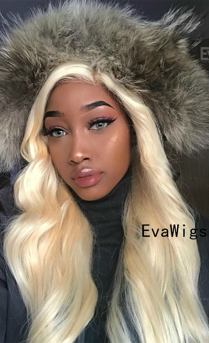 Platinum Blonde Full Lace Virgin Human Hair Wig 16 Coiffure Et