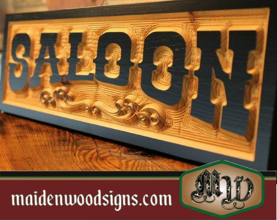 Custom Old West Sign Wood Carved Personalized Rustic Western Signs Home Decor