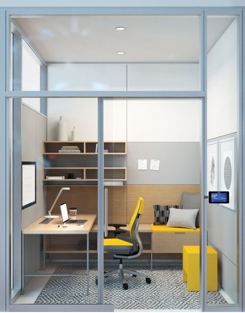 Introverts At Work The Quiet Ones Steelcase Small Office Design Small Office Design Interior Small Space Office