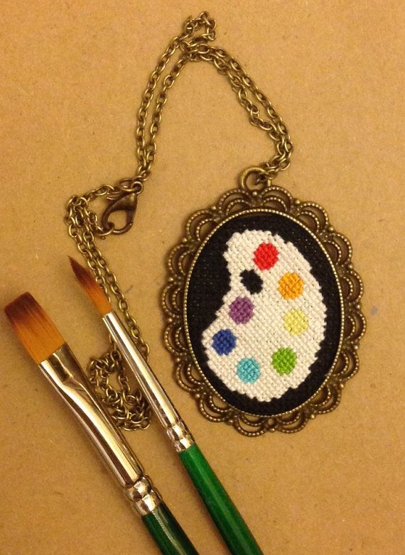 Hey, I found this really awesome Etsy listing at https://www.etsy.com/ru/listing/221658631/pendant-necklace-paint-palette