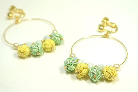 Summer Earrings with Glittering Japanese by wwwmejirojapancom,