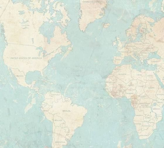 Turquoise world map decorating small spaces pinterest small world map canvas print vintage map world map horizontal extra large wall art vintage map antique oversized pastel map huge wall art poster gumiabroncs Gallery