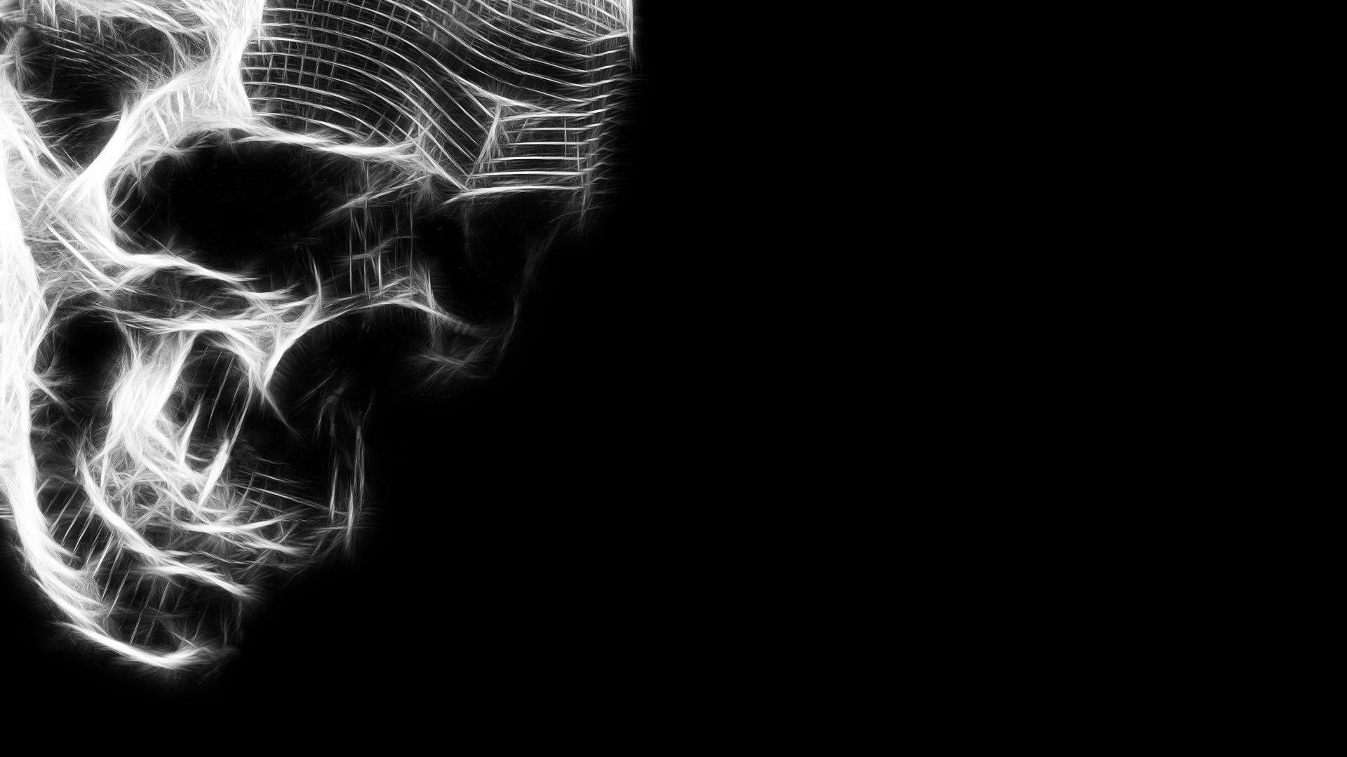Skull Hd Widescreen Wallpapers For Laptop Skull Wallpaper Black And White Wallpaper Dark Wallpaper