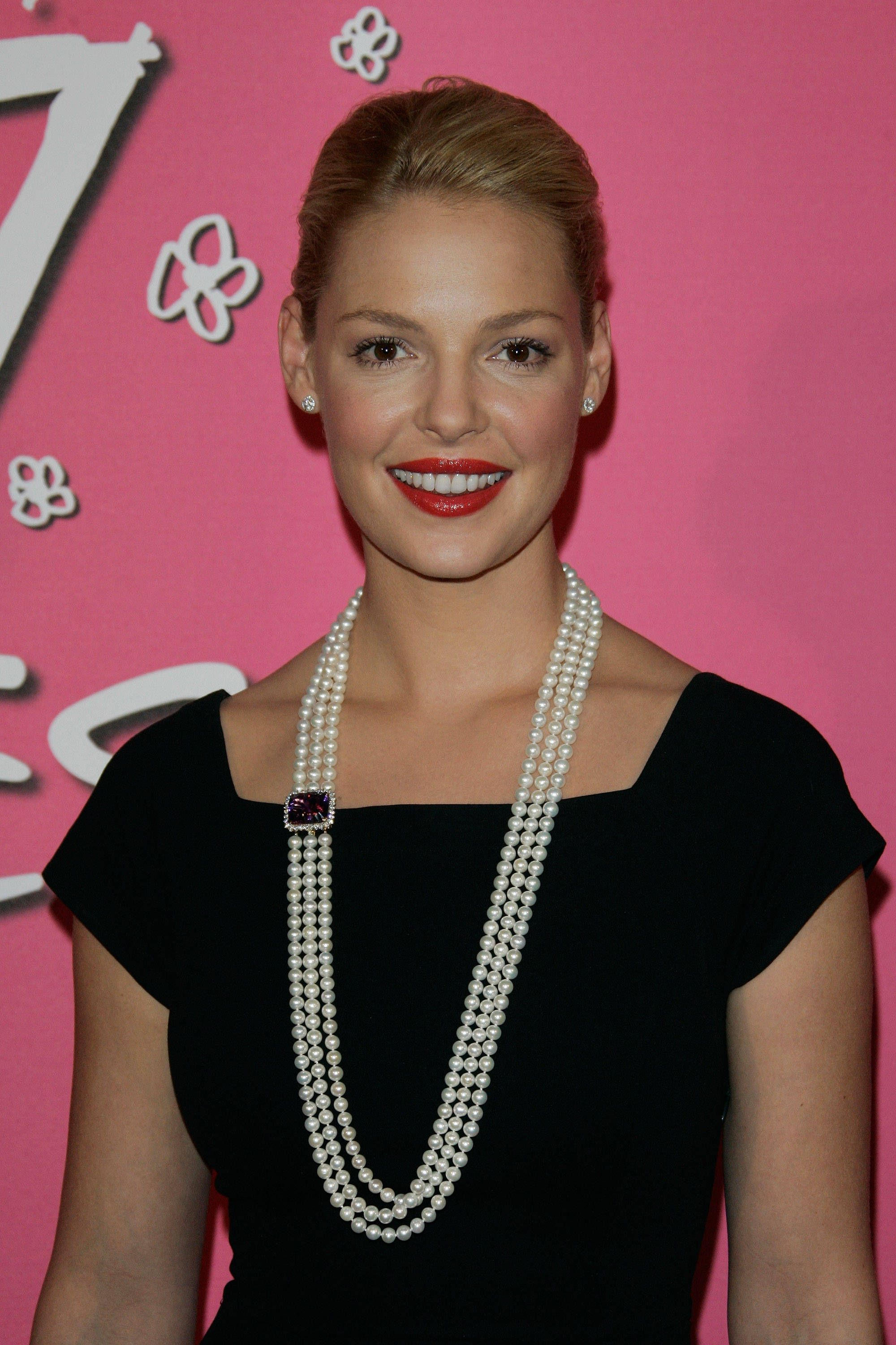 Katherine Heigl Celebrity Look for Less Pearl necklace Pearls