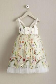 ffa87671d00 Girls Embroidered Vines Dress