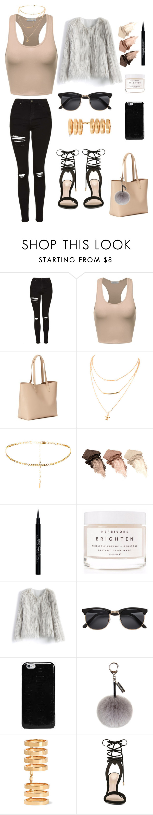 """""""Untitled #63"""" by melisamelipop ❤ liked on Polyvore featuring Topshop, Old Navy, Urban Decay, Givenchy, Herbivore, Chicwish, Maison Margiela, Helen Moore, Repossi and ALDO"""