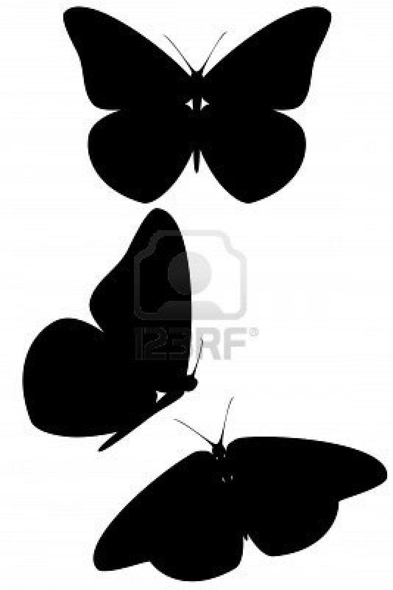 Vlinders imprimerie pinterest papillon pochoir et silhouette - Silhouette papillon imprimer ...