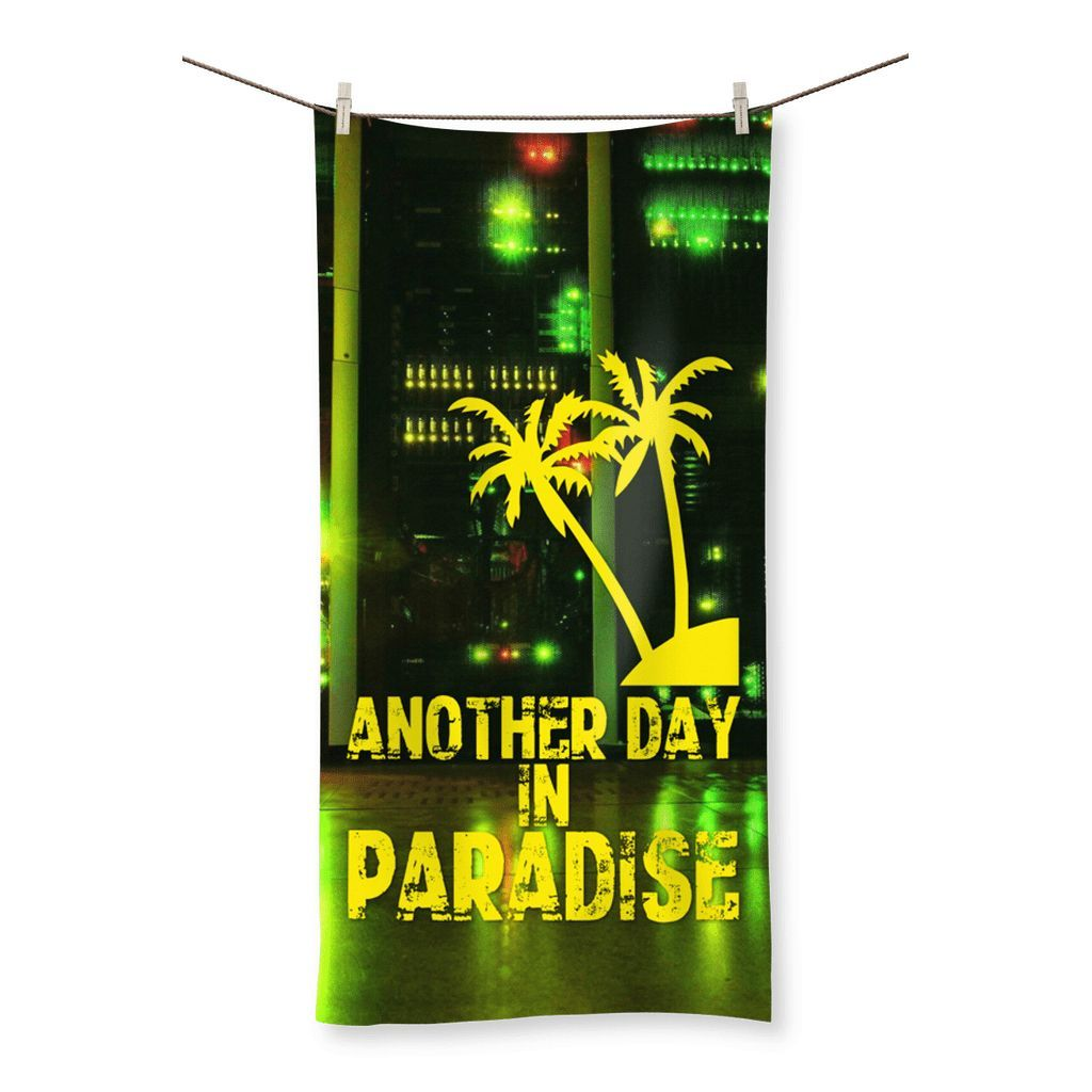 Love and Design Brand - Another Day In Paradise - Computer/IT Staff Beach Towel