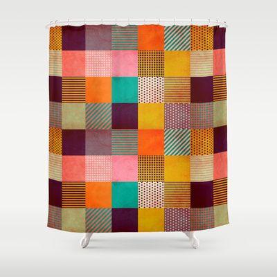 Decorative Pixel Shower Curtain by Louise Machado - #society6 #louisemachado #pattern #illustration #print #decorative #stripes #dots #geo #geometric #texture #pixel #gift #bath #shower #showercurtain #curtain #decoration #homedecor #home #appartment