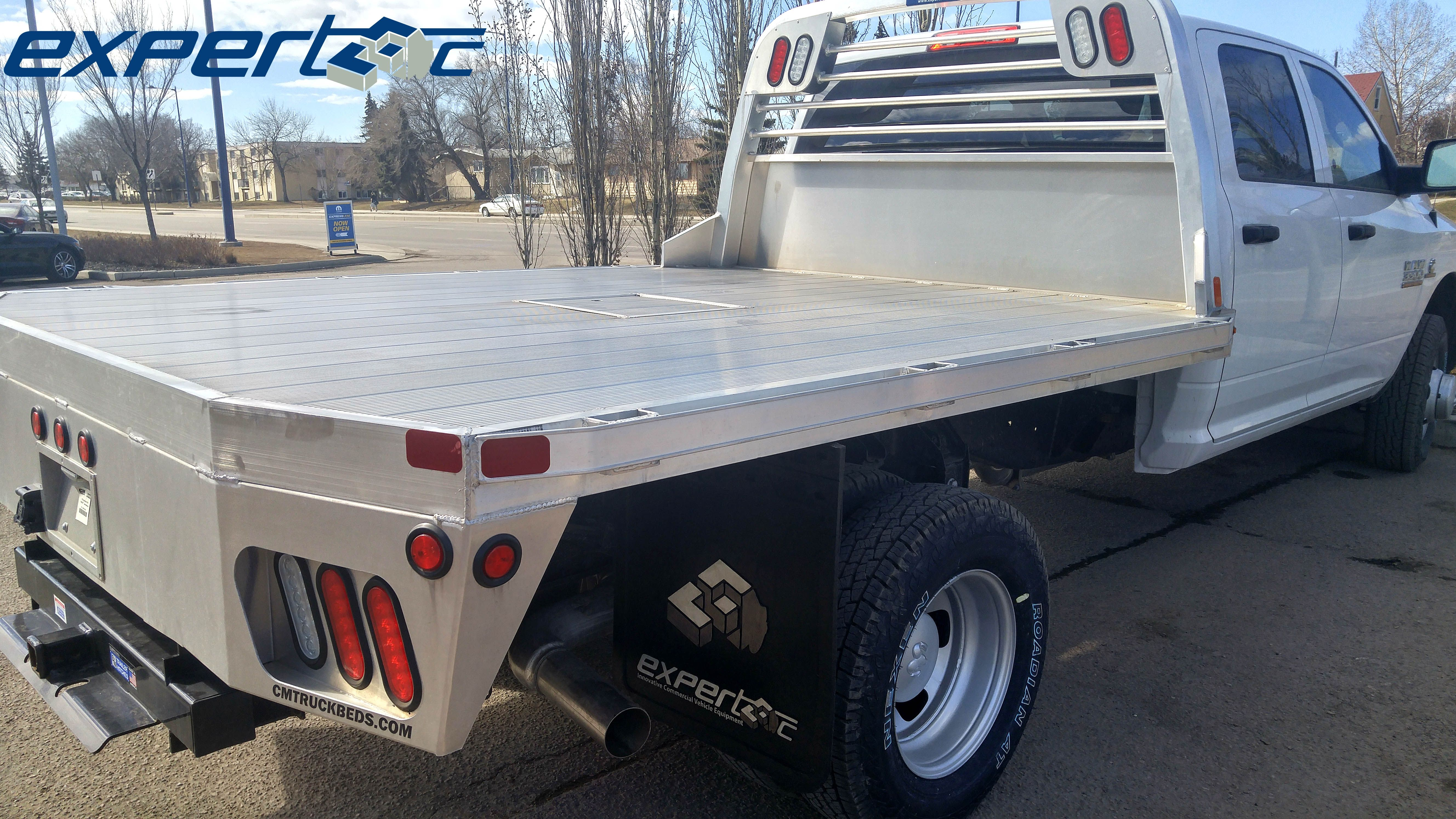 Just finished installing and delivering this aluminum flat bed by cm truck beds for londonderry dodge