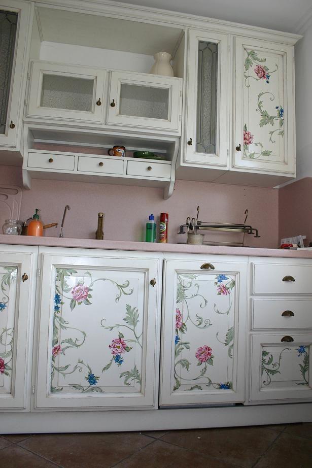 La cucina dipinta a n mano.2000   Arte ovunque!   Mobili dipinti ...