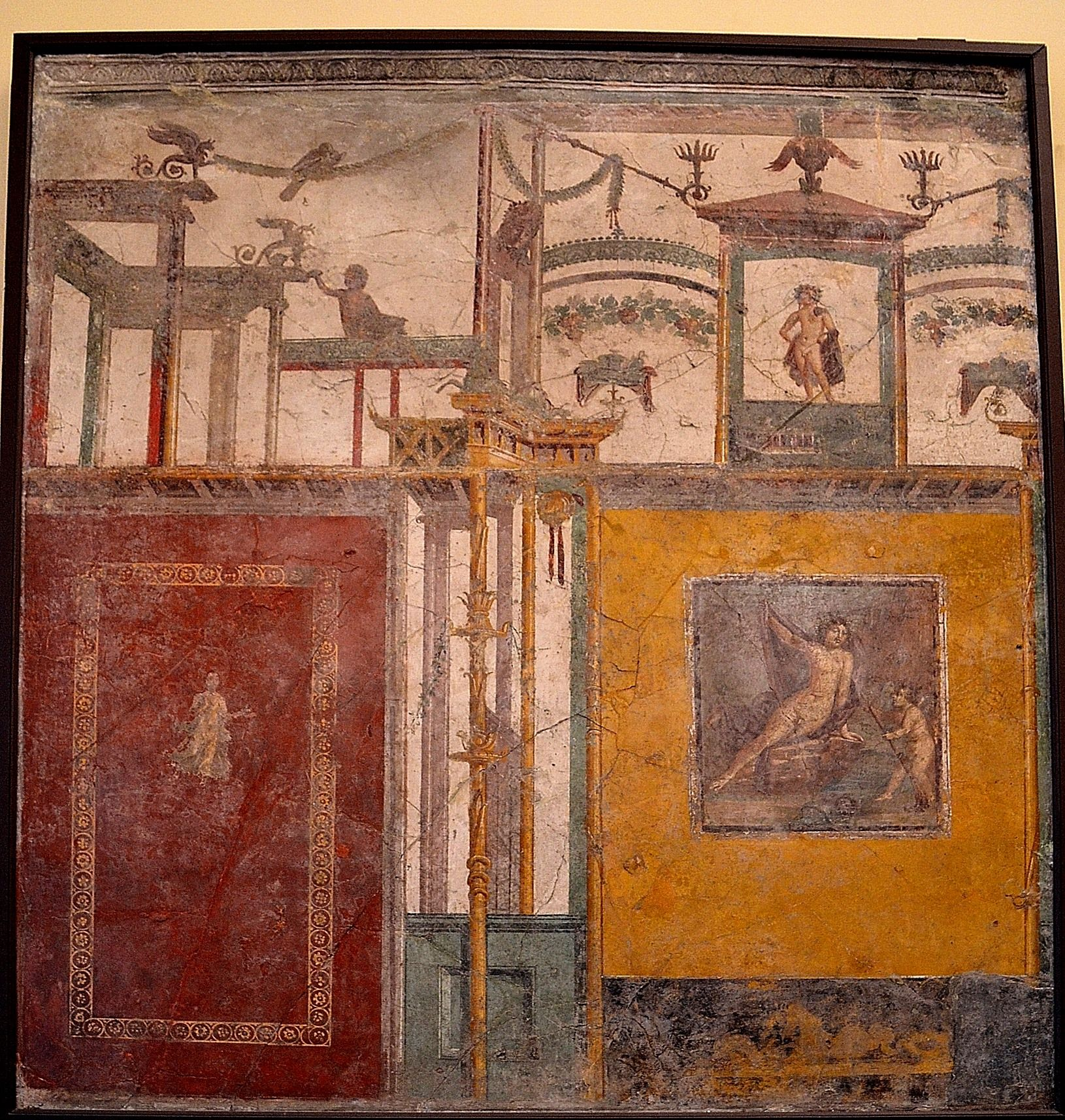 Wall painting styles - 313 Roman Architecture Fourth Style Wall Painting C 20 Ad To C