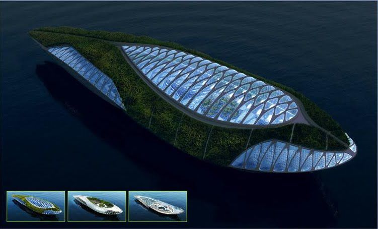 An Amphibious Floating Garden That Purifies The Water The Physalia - Physalia-a-huge-floating-garden-by-vincent-callebaut