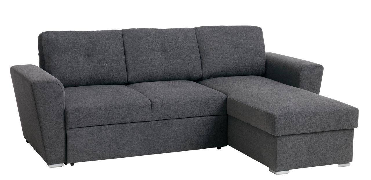 Avansert Sovesofa VEJLBY m/chaiselong stof m.grå | JYSK | Ny sofa GA-54