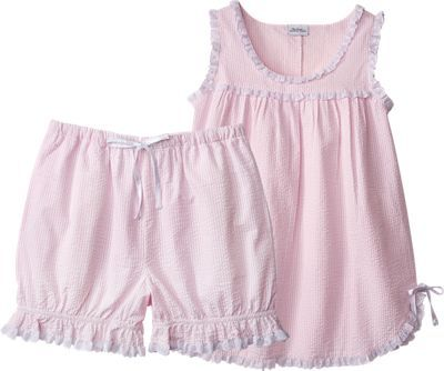 3919b3842a Find stylish comfort in our seersucker baby doll pajamas. These lightweight baby  doll pjs include bloomer-style bottoms and a sleeveless top.