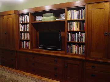 Custom Furniture   Black River Mission   Bookcases With Closed Doors