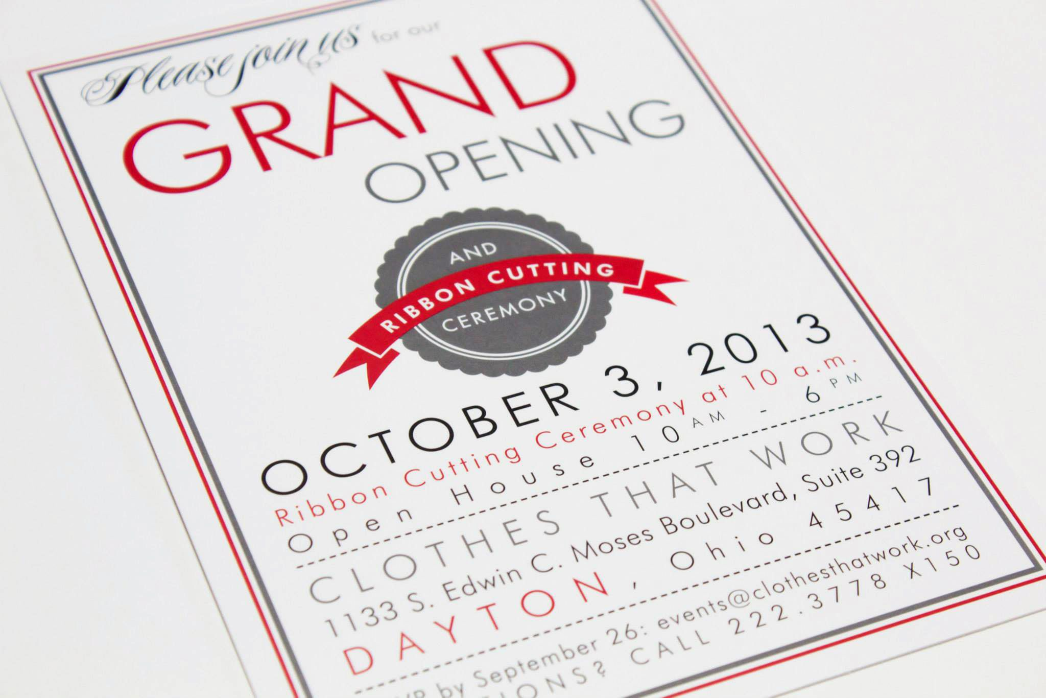 Clothes That Work boutique Grand Opening invitation | Grand opening  invitations, Grand opening, Invitation wording