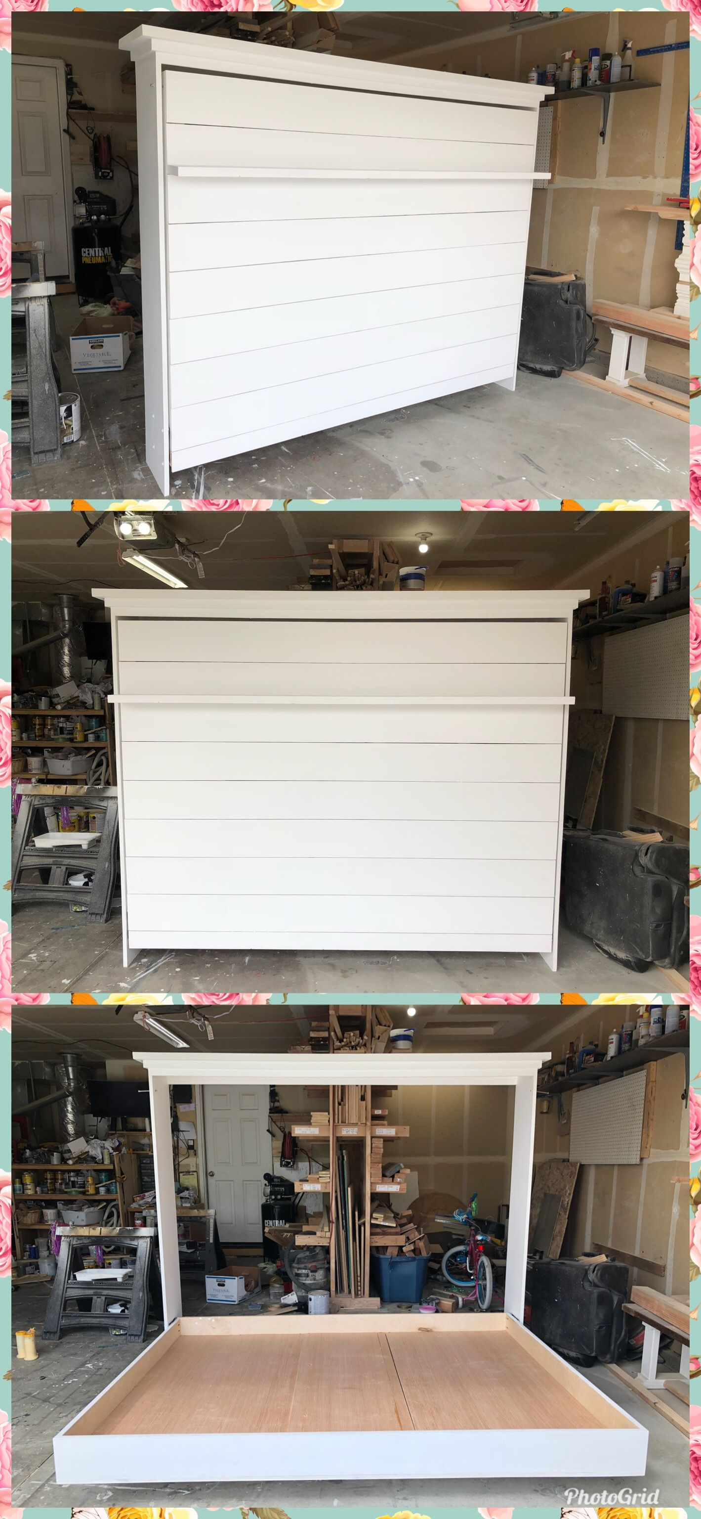 My first ever Murphy bed! murphybed farmhouse shiplap