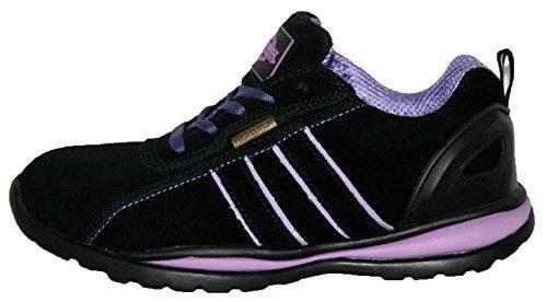 Ottawa - Zapatos de seguridad para mujer, acero en la punta de los dedos, con cordones, ligeras, color rosa, talla 40