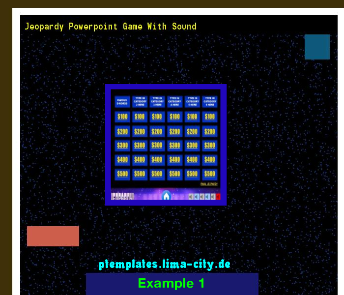 Jeopardy Powerpoint Game With Sound Powerpoint Templates 135212