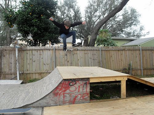 Build A Bmx Wooden Ramp Want Wooden Ramp Bmx Ramps Skateboard