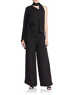 Valentino - Scarfneck Silk Jumpsuit