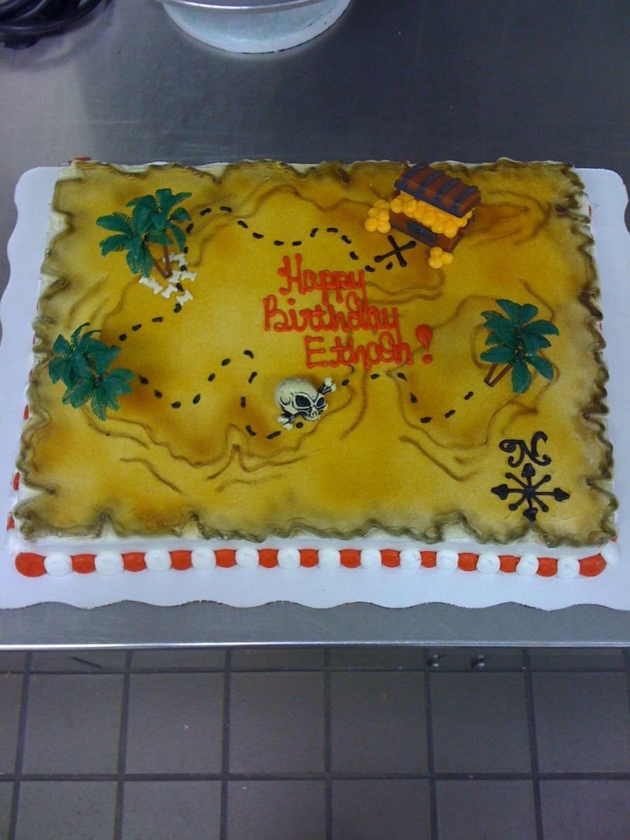 Treasure Map Cake on Cake Central