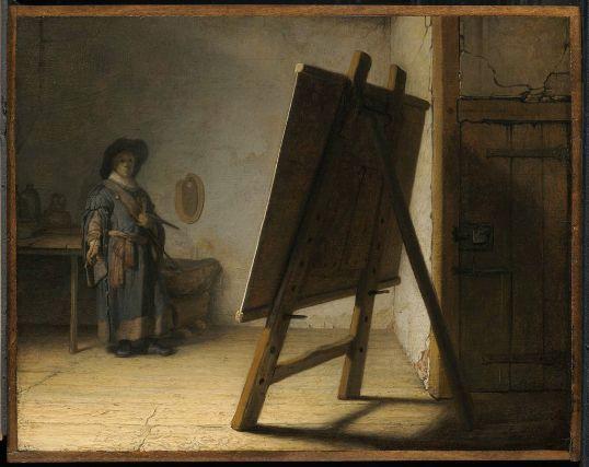 """Rembrandt Harmensz. van Rijn's """"Artist in his Studio."""" Museum of Fine Arts, Boston."""
