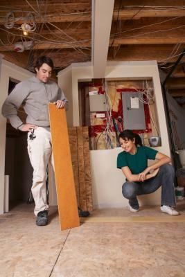 Installing Laminate Flooring, Repairing Laminate Flooring In Middle Of Room