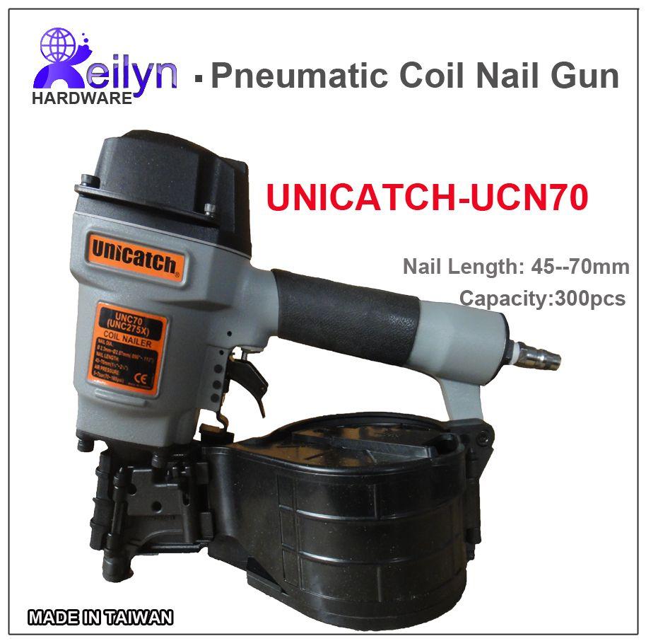 UNICATCH UNC275X (CN70) Industrial Pneumatic Coil Nail Gun