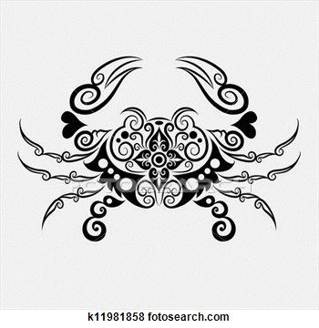 Crab Vector Cancer Zodiac Tattoo Cancer Tattoos Crab Tattoo