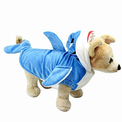 705fe03b NACOCO Dog Shark Costume Cute Pet Clothes Halloween Holiday Coat Hoodie for  Cats and Dogs (XS) #DogHolidays #dogeastercostumes